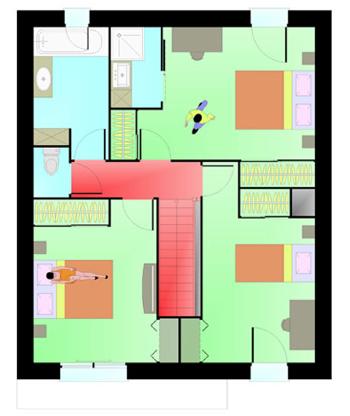 Plan de maison étage boussay
