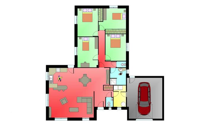 Plan intérieur Maison élégance « Benassay »