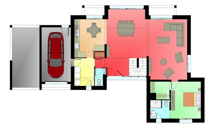 D couvrez les nouvelles perspectives de maisons r alis es for Plan maison suite parentale rdc