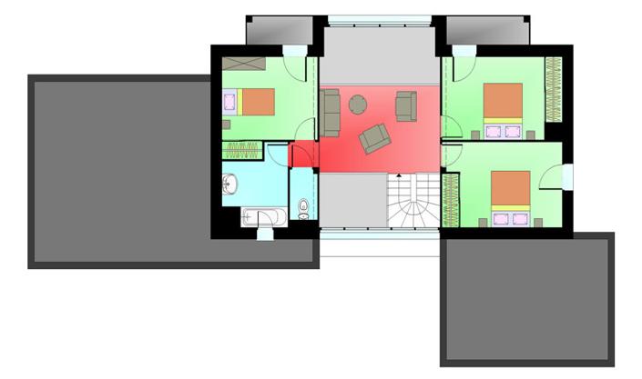 plan intérieur étage Maison advance « Pontigné »