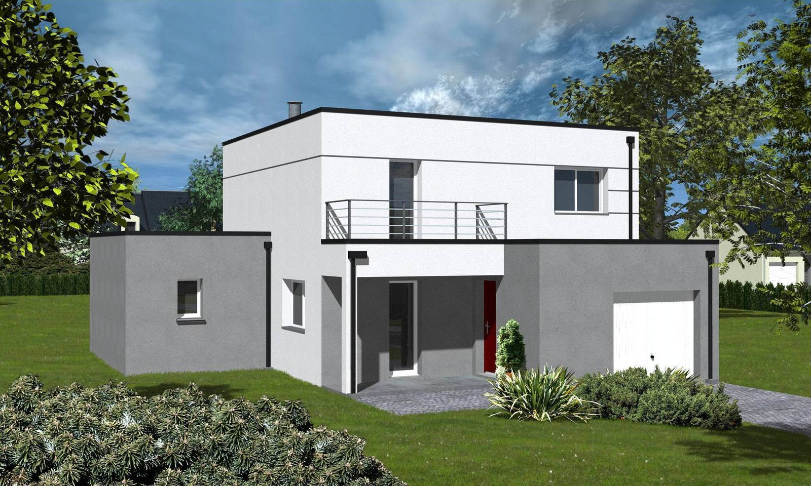 Traditionnel ou contemporain maisons ericlor for Model de construction maison