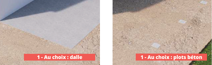 Choix d'une structure sur dalle ou sur plots béton