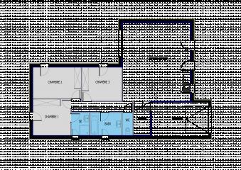 Plan Maison Avec 3 Chambres Avec Toiture Ardoise A Telecharger Gratuitement Primea