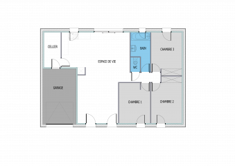 plan maison rectangulaire a telecharger