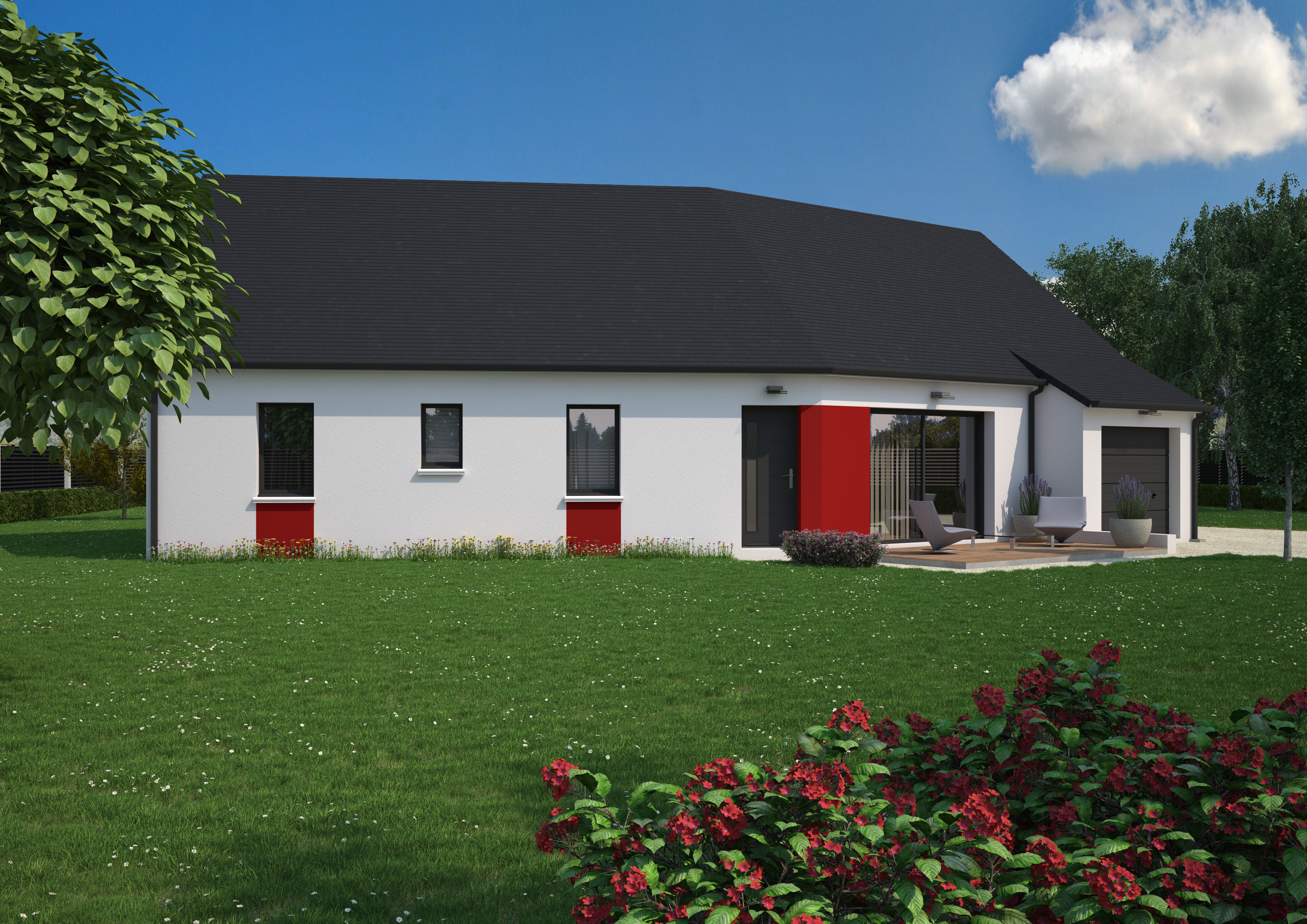 Maison 4 chambres de 100 m²