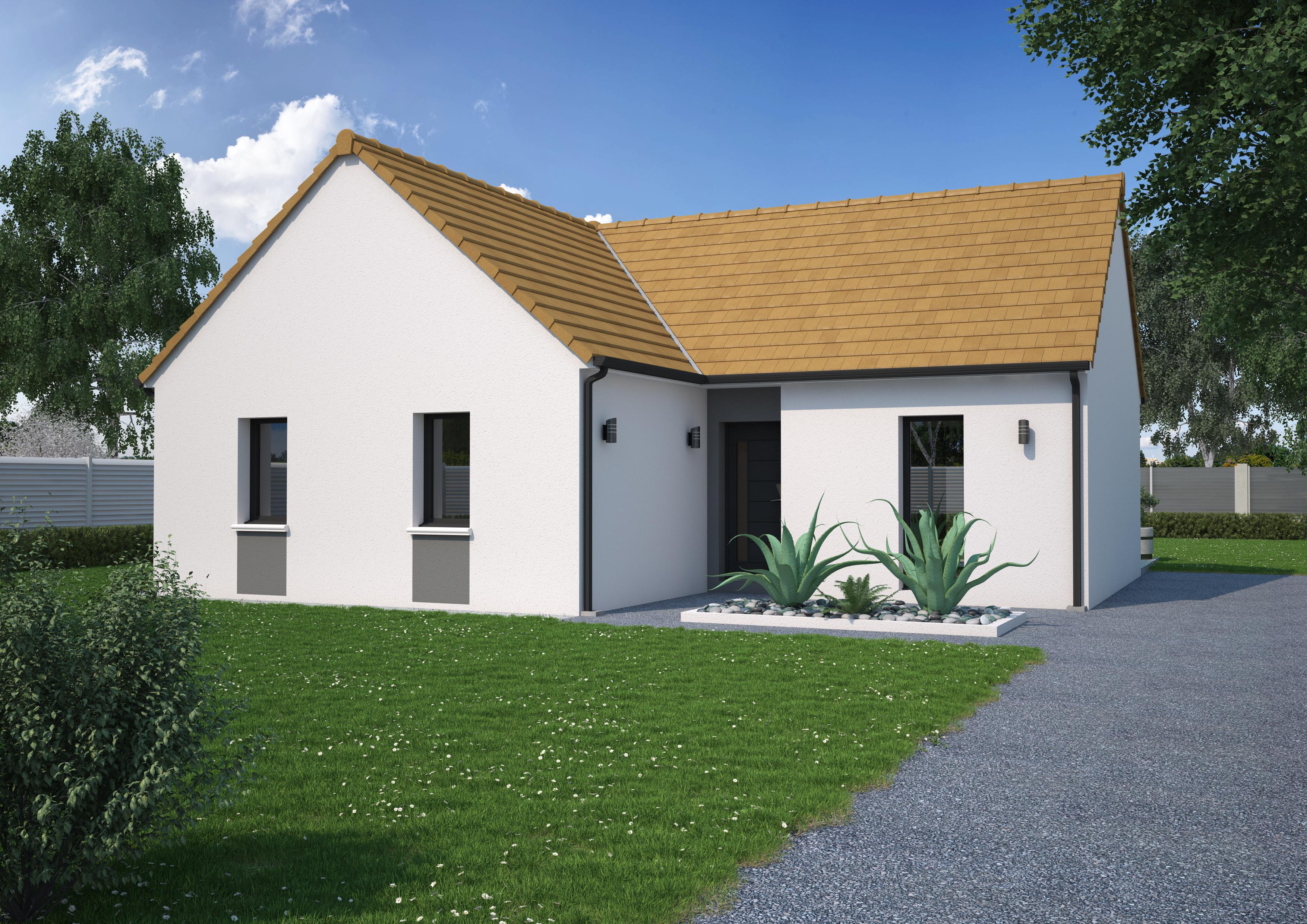 Maison 3 chambres de 76 m²