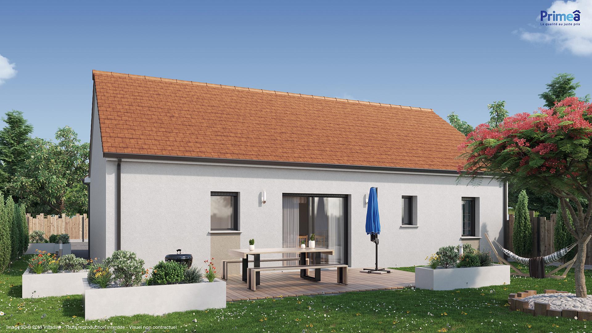 Maison 3 chambres de 75 m²