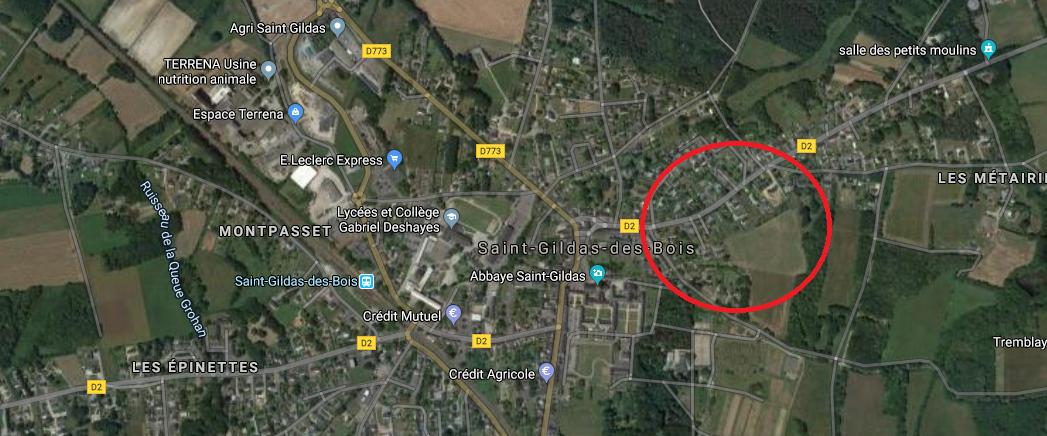 Terrain constructible à Saint-Gildas-des-Bois
